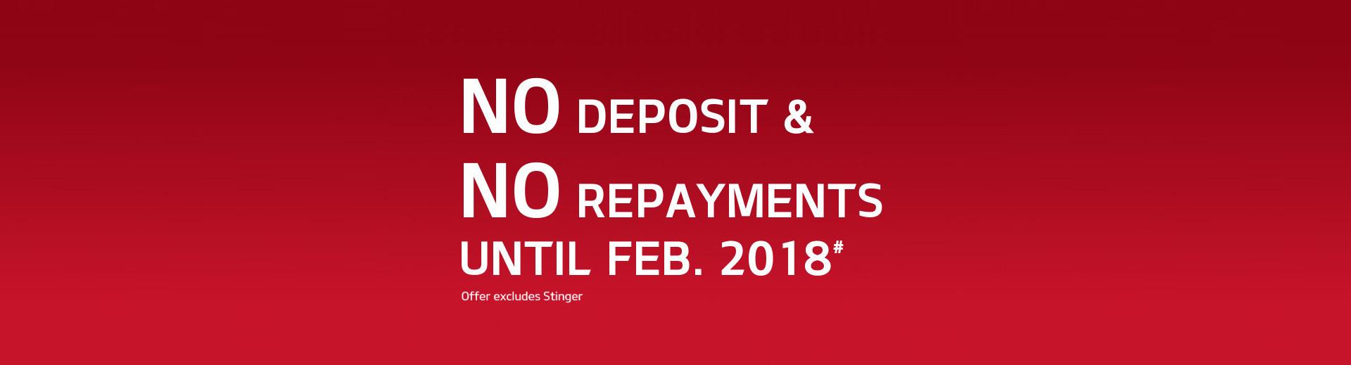 Kia - No Deposits & No Repayments