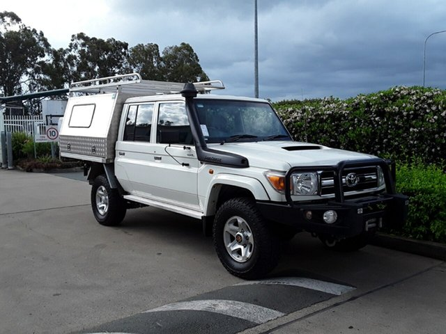 Used Toyota Landcruiser GXL Double Cab, Acacia Ridge, 2014 Toyota Landcruiser GXL Double Cab VDJ79R MY13 Cab Chassis
