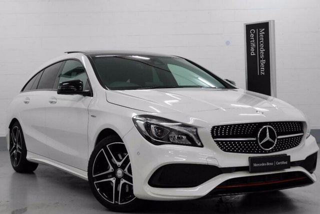 Demonstrator, Demo, Near New Mercedes-Benz CLA250 Sport Shooting Brake DCT 4MATIC, Chatswood, 2017 Mercedes-Benz CLA250 Sport Shooting Brake DCT 4MATIC Wagon