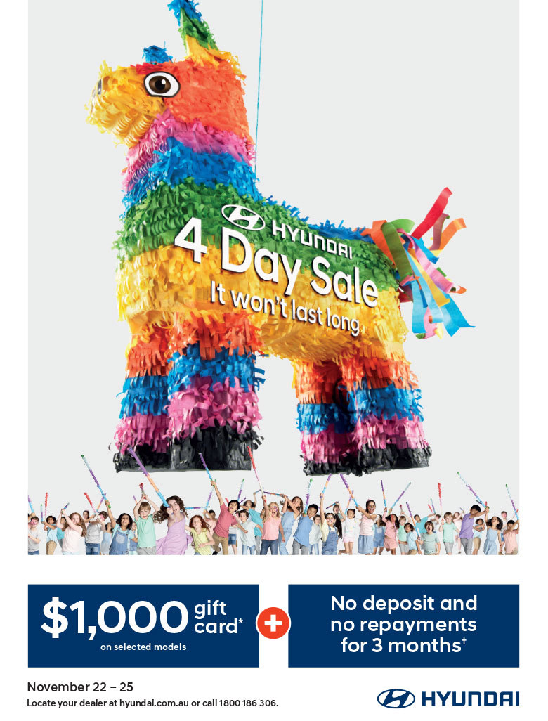 Hyundai - National Offer - 4 Day Sale