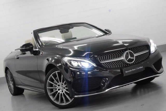 Demonstrator, Demo, Near New Mercedes-Benz C300 9G-TRONIC, Chatswood, 2016 Mercedes-Benz C300 9G-TRONIC Cabriolet