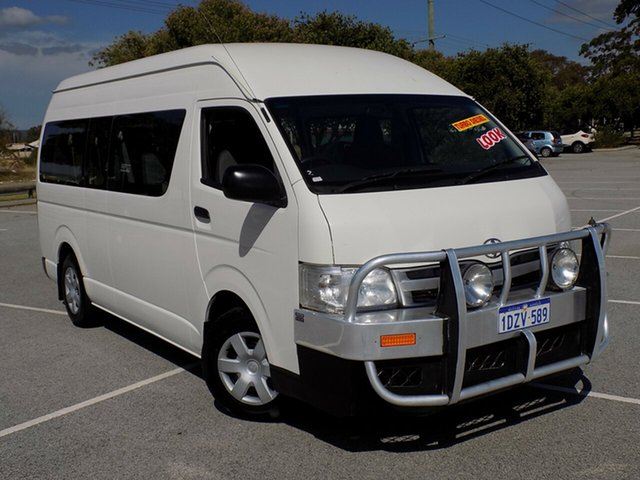 Used Toyota Hiace Commuter High Roof Super LWB, Maddington, 2012 Toyota Hiace Commuter High Roof Super LWB Bus