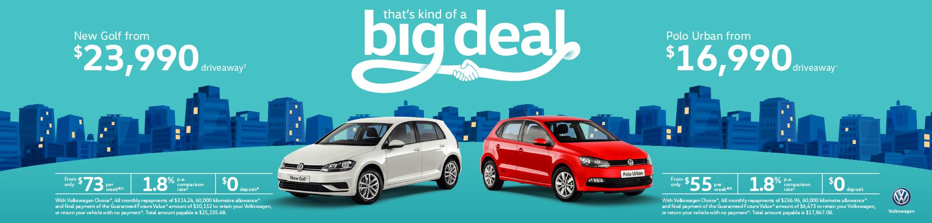 Volkswagen - National Offer -  It's kind of a big deal