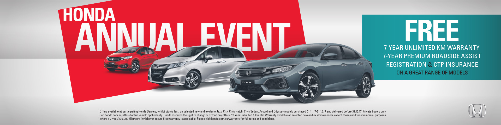 Honda - National Offer - Free 7yr Warranty & 7 Yr Roadside Assist