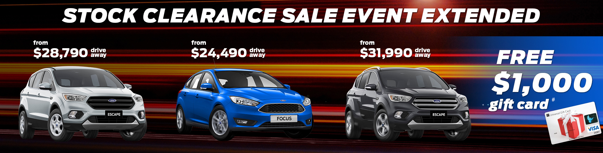 Peter Warren Ford Stock Clearance Sale Event