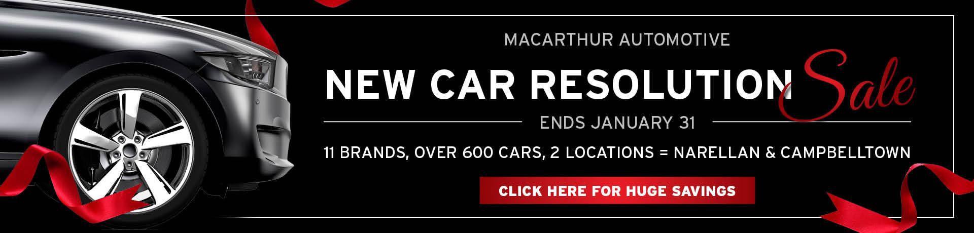 Macarthur Automotive - New Car Resolution Sale