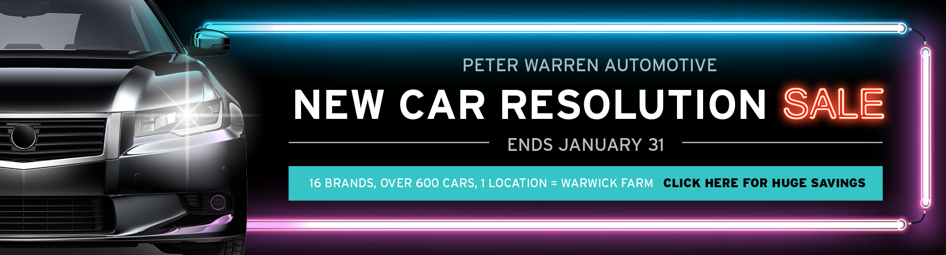 Peter Warren Automotive - New Car Resolution Sale