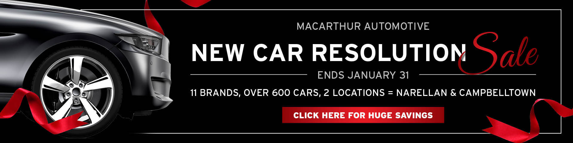Macarthur Automotive - New Car Resolution Sale
