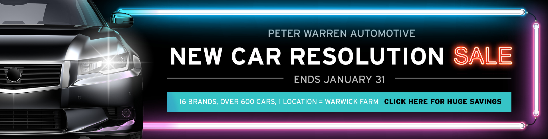 Peter Warren Automotive - New Car Resolution Sale