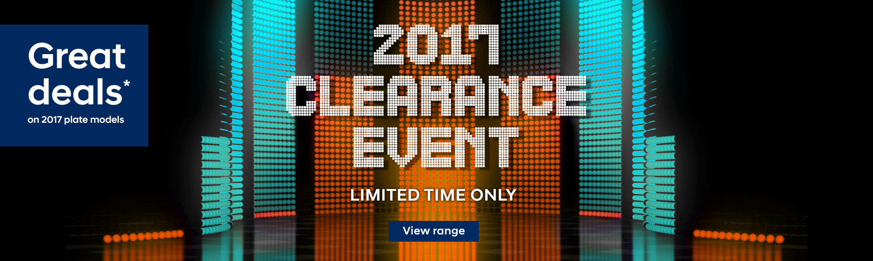 2017 Clearance Event - Huge factory bonuses on 2017 plate models