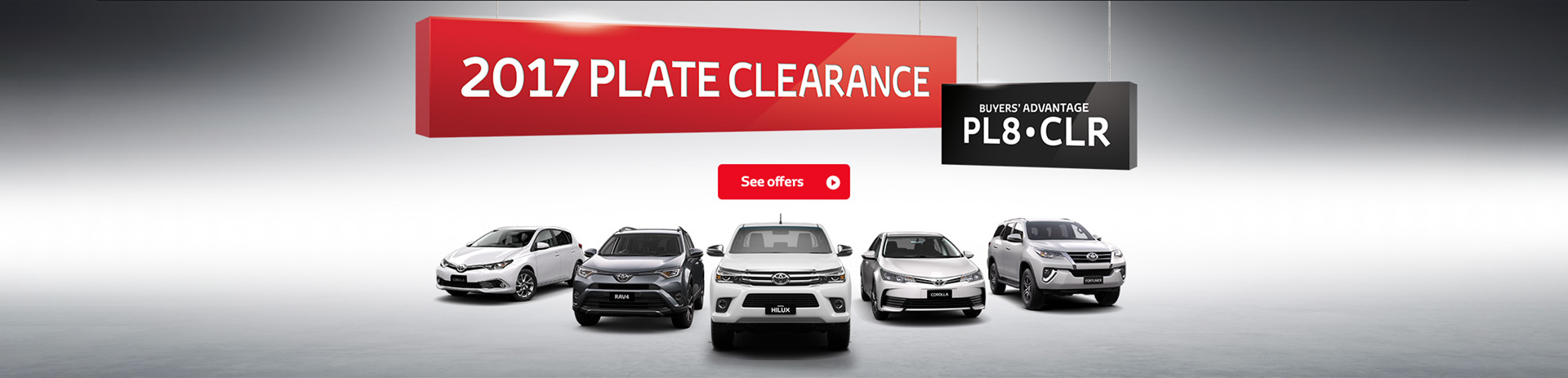 Toyota - National Offer - 2017 Plate Clearance