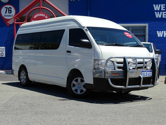 Discounted Used Toyota Hiace Commuter High Roof Super LWB, Welshpool, 2012 Toyota Hiace Commuter High Roof Super LWB Bus