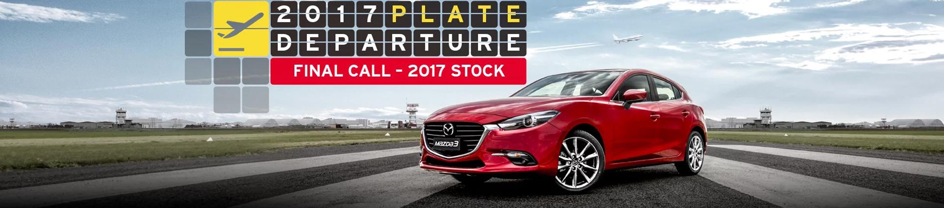 Mazda - National Offer - 2017 Plate Departure Sale