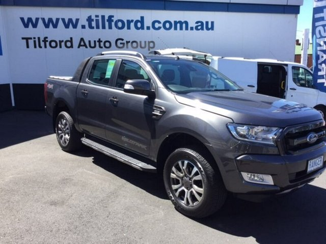 Demonstrator, Demo, Near New Ford Ranger Wildtrak Double Cab, Hobart, 2017 Ford Ranger Wildtrak Double Cab Utility