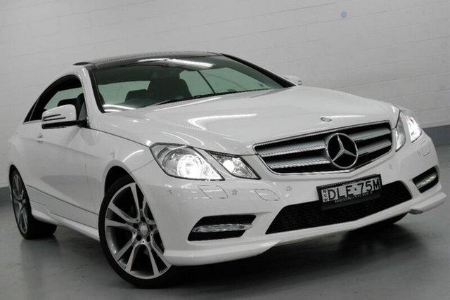 Demonstrator, Demo, Near New Mercedes-Benz E250 CDI 7G-Tronic +, Chatswood, 2013 Mercedes-Benz E250 CDI 7G-Tronic + Coupe