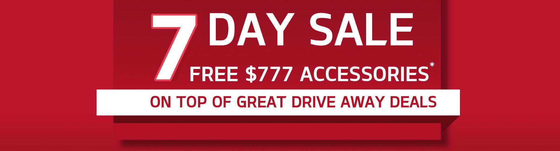 Kia - 7 Day Sale - Free $777 Accessories