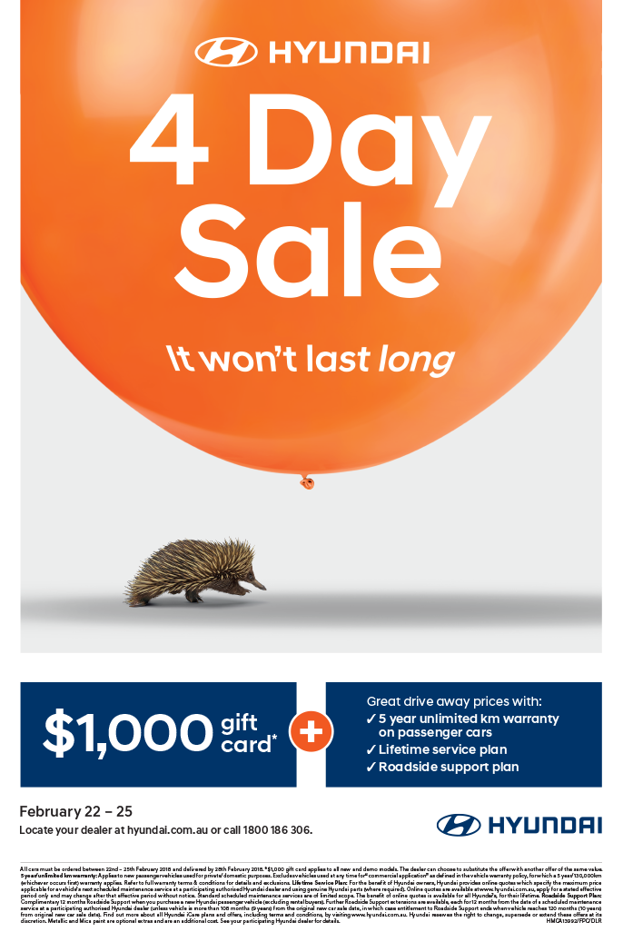 Hyundai 4 Day Sale
