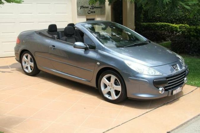 Discounted Used Peugeot 307 CC Dynamic, Bundall, 2007 Peugeot 307 CC Dynamic T6 MY08 Cabriolet