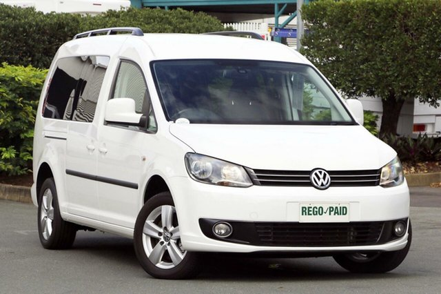 Discounted Used Volkswagen Caddy TDI250 Wagon Life Maxi DSG, Acacia Ridge, 2010 Volkswagen Caddy TDI250 Wagon Life Maxi DSG 2K MY11 Wagon