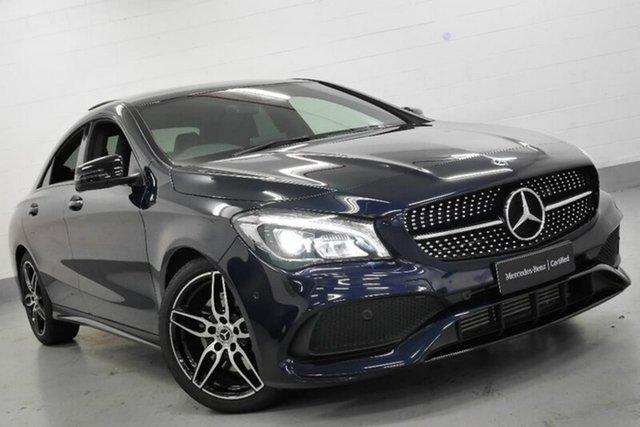 Demonstrator, Demo, Near New Mercedes-Benz CLA220 d DCT, Chatswood, 2017 Mercedes-Benz CLA220 d DCT Coupe