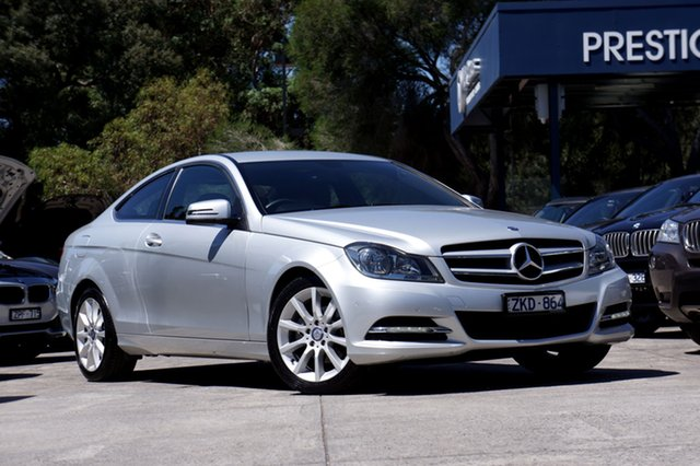 Used Mercedes-Benz C180 BlueEFFICIENCY 7G-Tronic +, Balwyn, 2012 Mercedes-Benz C180 BlueEFFICIENCY 7G-Tronic + Coupe