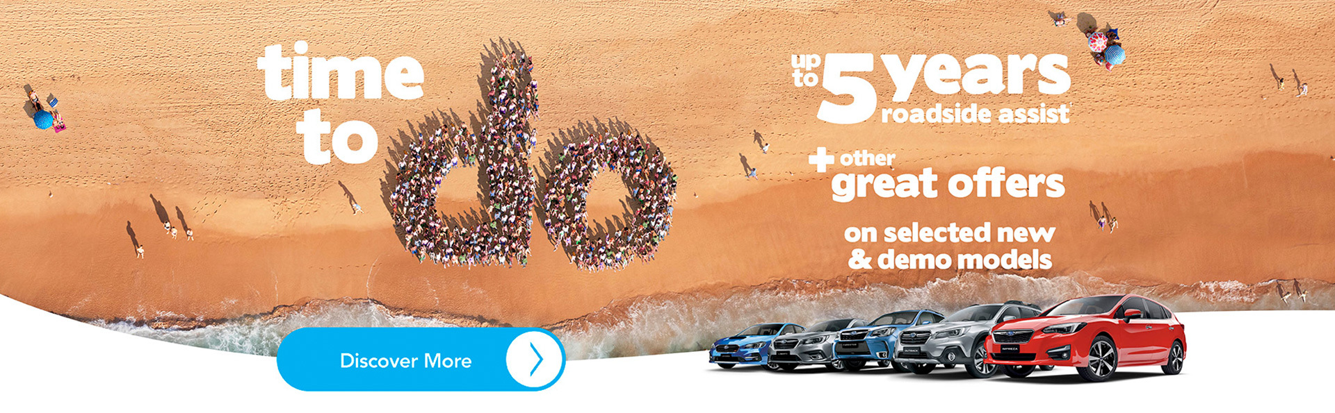 Subaru - March - 5 Years roadside assit & other great offers on selected new & d