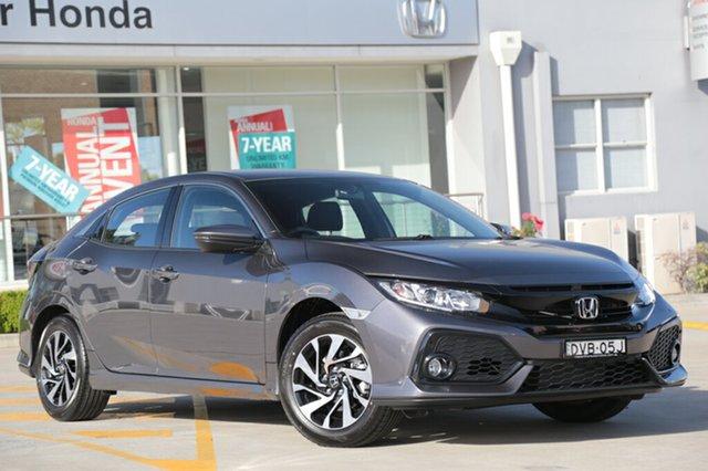 Discounted Demonstrator, Demo, Near New Honda Civic VTi-S, Narellan, 2017 Honda Civic VTi-S Hatchback