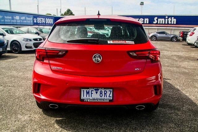 Demonstrator, Demo, Near New Holden Astra RS-V, Oakleigh, 2018 Holden Astra RS-V BK MY17.5 Hatchback