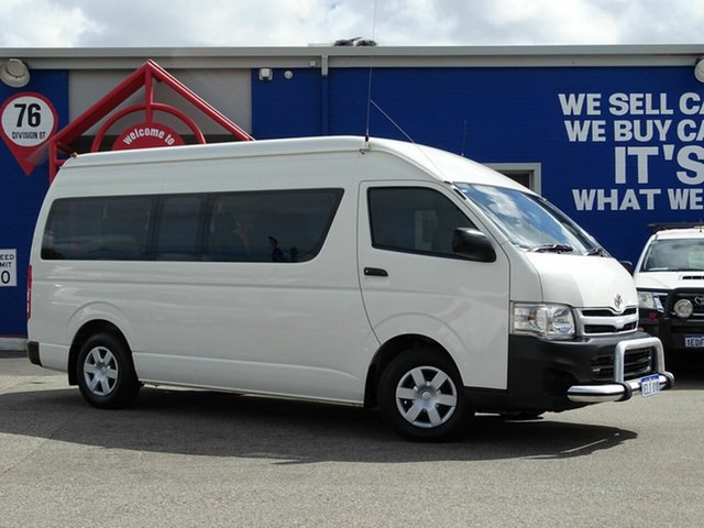 Discounted Used Toyota Hiace Commuter High Roof Super LWB, Welshpool, 2013 Toyota Hiace Commuter High Roof Super LWB Bus