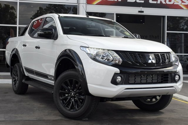 Demonstrator, Demo, Near New Mitsubishi Triton Blackline Double Cab, Toowong, 2018 Mitsubishi Triton Blackline Double Cab Utility