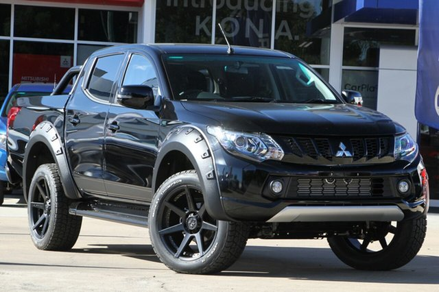 Demonstrator, Demo, Near New Mitsubishi Triton Blackline Double Cab, Beaudesert, 2018 Mitsubishi Triton Blackline Double Cab Utility