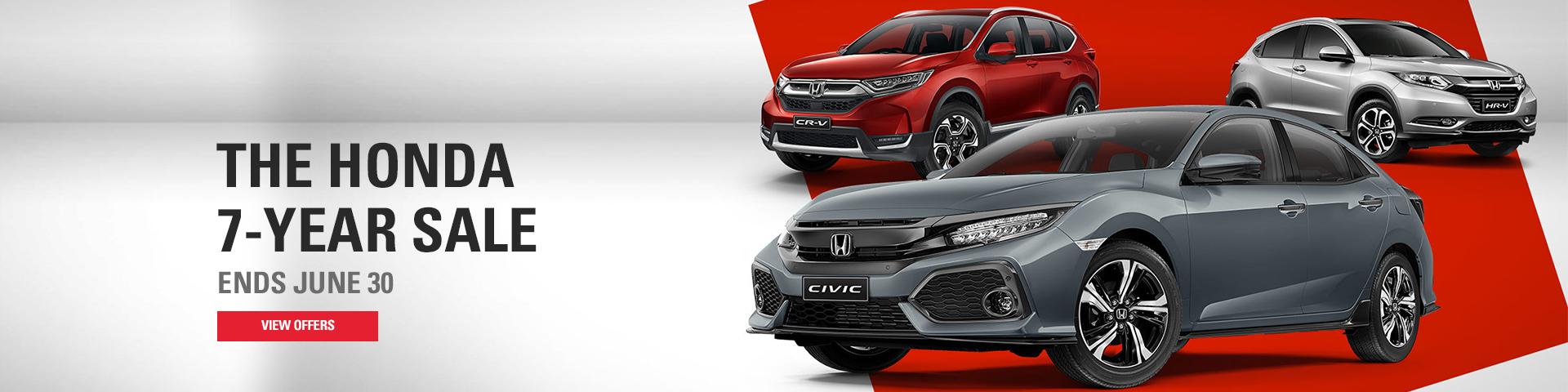 The Honda 7-Year Sale