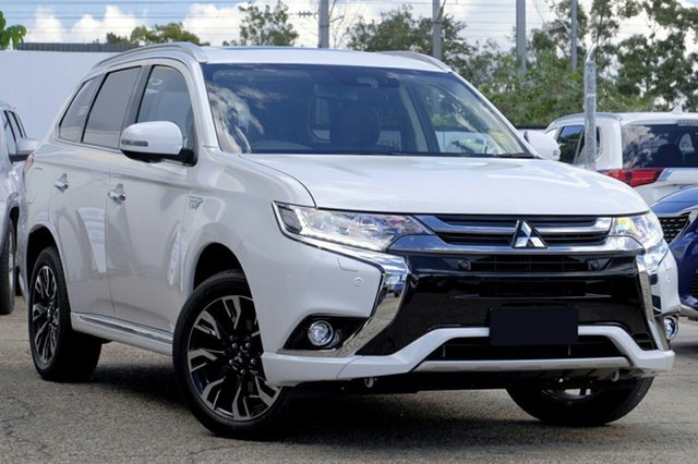 Demonstrator, Demo, Near New Mitsubishi Outlander PHEV AWD Exceed, Bowen Hills, 2018 Mitsubishi Outlander PHEV AWD Exceed Wagon