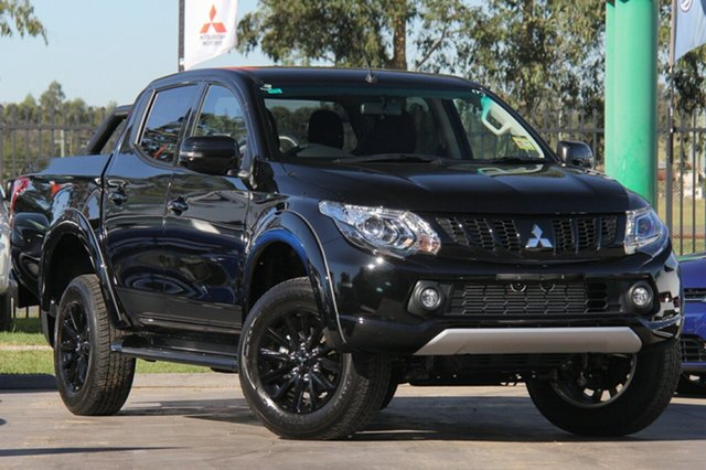 Demonstrator, Demo, Near New Mitsubishi Triton Blackline Double Cab, Bowen Hills, 2018 Mitsubishi Triton Blackline Double Cab Utility