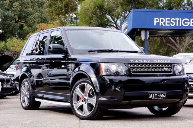 Used Land Rover Range Rover Sport HSE Luxury CommandShift Black, Balwyn, 2013 Land Rover Range Rover Sport HSE Luxury CommandShift Black Wagon