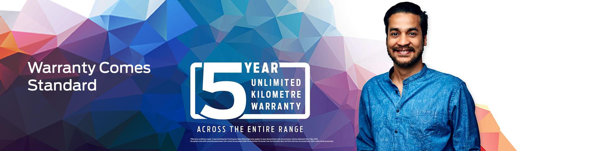 5 Year Unlimited Kilometre Warranty