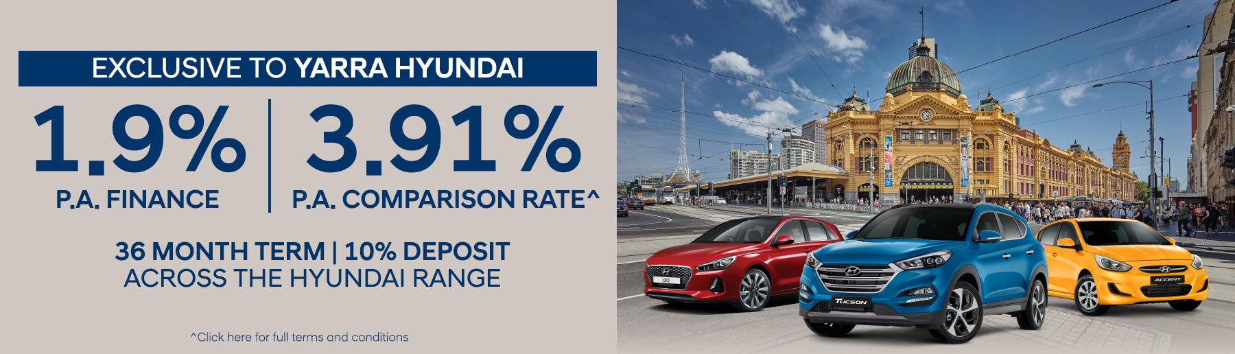 Yarra Hyundai Exclusive Finance Offer