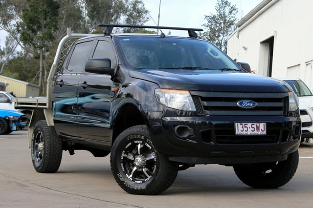 Used Ford Ranger XL Double Cab, Beaudesert, 2012 Ford Ranger XL Double Cab Cab Chassis