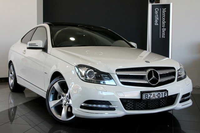 Used Mercedes-Benz C250 BlueEFFICIENCY 7G-Tronic +, Mosman, 2011 Mercedes-Benz C250 BlueEFFICIENCY 7G-Tronic + Coupe