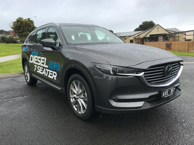 Demonstrator, Demo, Near New Mazda CX-8 Asaki SKYACTIV-Drive i-ACTIV AWD, Warrnambool East, 2018 Mazda CX-8 Asaki SKYACTIV-Drive i-ACTIV AWD Wagon