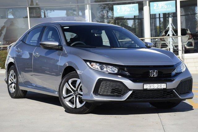 Discounted Demonstrator, Demo, Near New Honda Civic VTi, Narellan, 2018 Honda Civic VTi Hatchback
