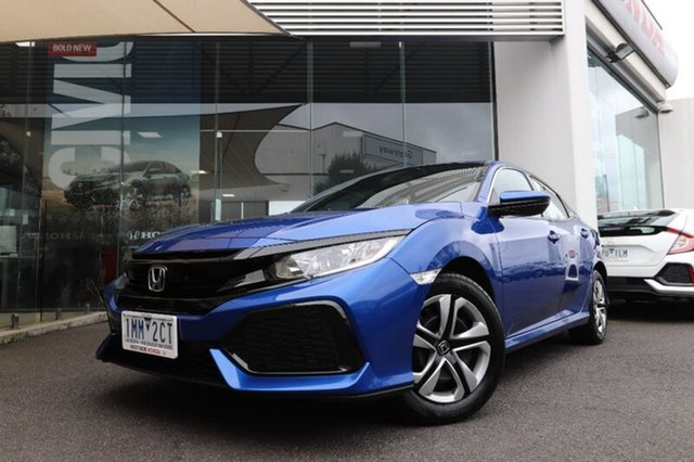 Demonstrator, Demo, Near New Honda Civic VTi, Hoppers Crossing, 2018 Honda Civic VTi Hatchback