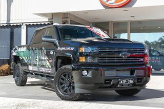Demonstrator, Demo, Near New Chevrolet Silverado 2500 LTZ Midnight Edition, Oakleigh, 2018 Chevrolet Silverado 2500 LTZ Midnight Edition CK MY18 Crew Cab Utility