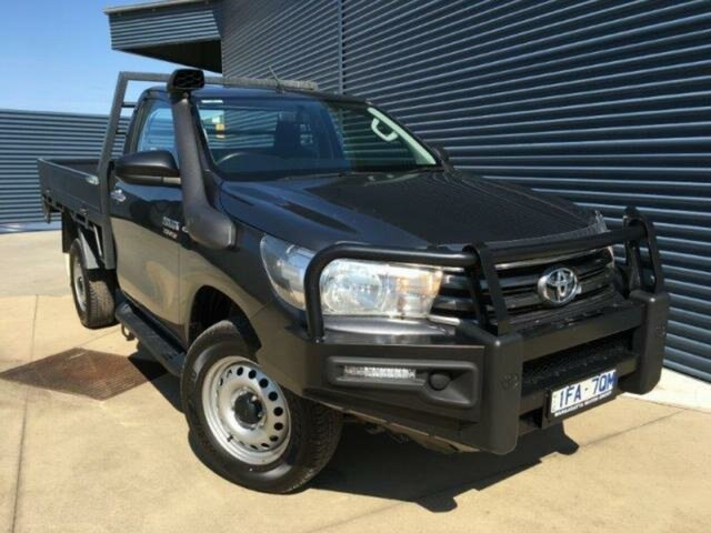 Used Toyota Hilux Hilux 4x4 SR 2.8L T Diesel Automatic Single Cab C/C 1Y40620 , Wangaratta, 2015 Toyota Hilux Hilux 4x4 SR 2.8L T Diesel Automatic Single Cab C/C 1Y40620 Cab Chassis