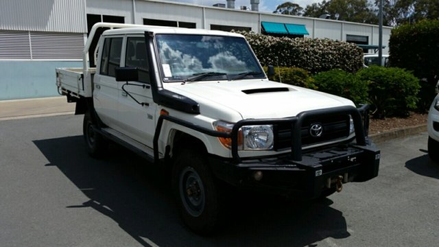 Used Toyota Landcruiser Workmate Double Cab, Acacia Ridge, 2014 Toyota Landcruiser Workmate Double Cab VDJ79R MY13 Cab Chassis