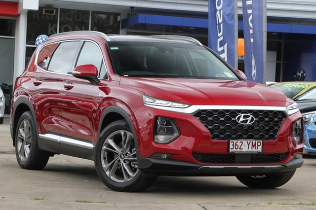 Demonstrator, Demo, Near New Hyundai Santa Fe Highlander, Beaudesert, 2018 Hyundai Santa Fe Highlander Wagon