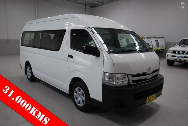 Used Toyota Hiace Commuter High Roof Super LWB, Kenwick, 2013 Toyota Hiace Commuter High Roof Super LWB Bus
