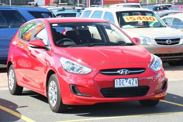 Used Hyundai Accent Active, Cheltenham, 2016 Hyundai Accent Active Hatchback