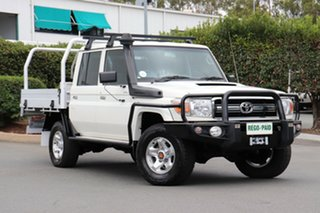 Used Toyota Landcruiser GXL Double Cab, Acacia Ridge, 2014 Toyota Landcruiser GXL Double Cab VDJ79R Cab Chassis