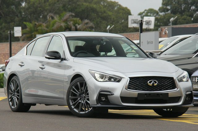 Discounted Demonstrator, Demo, Near New Infiniti Q50 Red Sport, Warwick Farm, 2018 Infiniti Q50 Red Sport Sedan